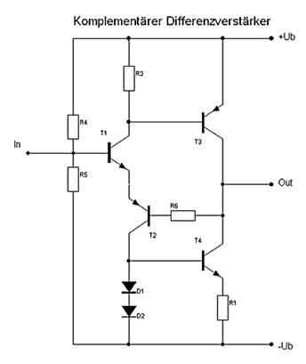 Audio-Vorverstärker | Diskreter Operationsverstärker ...