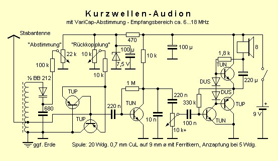 Viewtopic as well Schematics likewise Few Transistor  lifier Circuits additionally Crystal radio receiver furthermore 41340 Beginners Ecl82. on simple transistor regenerative radio circuit
