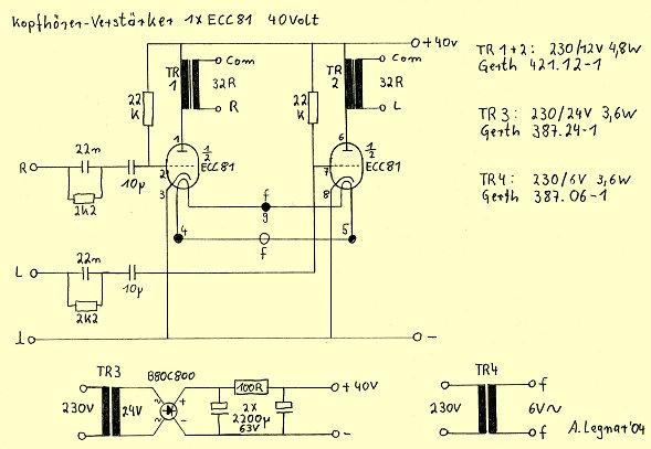 Röhrenprojekte von 6 bis 60 Volt